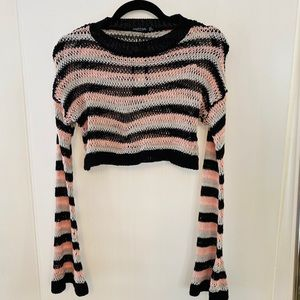 (NWT) Striped Cropped sweater